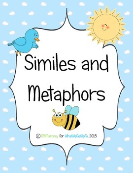 Similes and Metaphors Introduction
