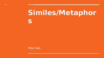 Similes and Metaphors Introduction PowerPoint Lesson