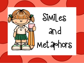 Similes and Metaphors- (L.4.5a) Powerpoint and Printable Practice