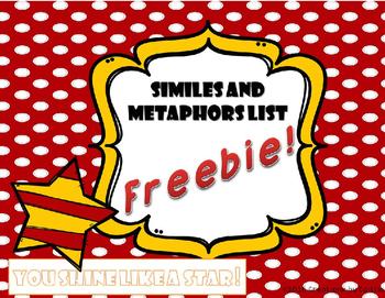 Similes and Metaphors List