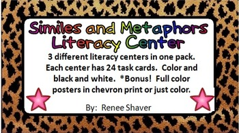 Similes and Metaphors Literacy Center