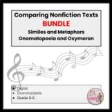 Similes and Metaphors Onomatopoeia and Oxymoron BUNDLE