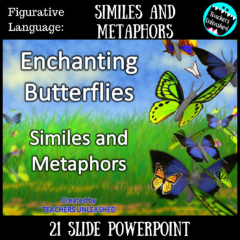 similes and metaphors powerpoint lesson figurative