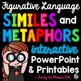 Similes and Metaphors PowerPoint and Worksheets Figurative