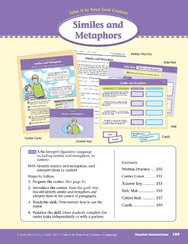 Similes and Metaphors (Take It to Your Seat Centers: Common Core Language)