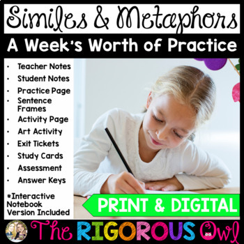 Similes and Metaphors Week Long Lessons Common Core Aligned