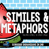 Similes and Metaphors - anchor charts and task cards