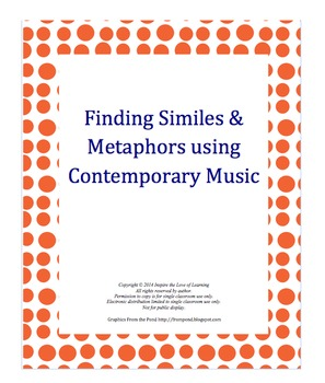 Similes and Metaphors in Contemporary Songs