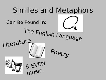 Similes and Metaphors in Music Powerpoint