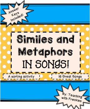 Similes And Metaphors Songs & Worksheets | Teachers Pay Teachers