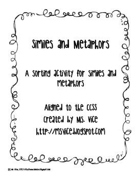 Similes and Metaphors sort