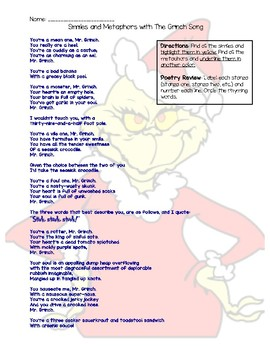 Similes and Metaphors with The Grinch Song