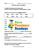 Similes and metaphors PowerPoint, Worksheet and Help sheet