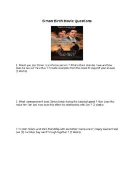 Simon Birch Movie Questions