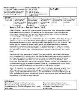 Simon Bolivar Inquiry 2