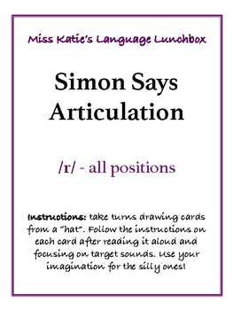 Simon Says Articulation- /r/
