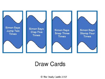 Simon Says Board Game (Verbs)