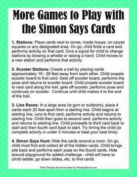 Simon Says Body Awareness and Motor Planning