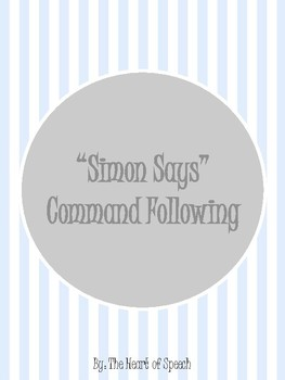 Simon Says Command Following (1, 2, & 3 Step Directions)