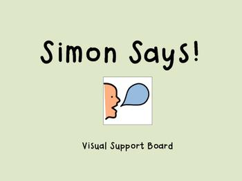 Simon Says Game Visual Support
