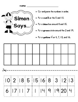 Simon Says {Ordering Numbers}