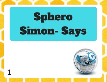 Simon Says Sphero Challenge Card Set *Updated*