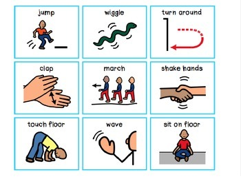 SIMON SAYS Adapted for Early Childhood / Speech Therapy / Special Education