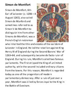 Simon de Montfort Handout