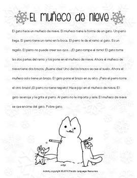 Simon's Cat Snowman Spanish Movie Talk