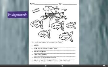 Simon's Hook Worksheet