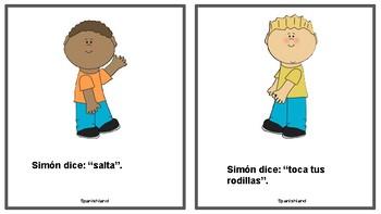 Simon says in Spanish (Simon Dice) set of cards