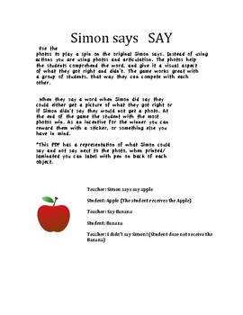 Simon says to say!