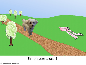Simon sees /s/ and /s/ blends on his walk
