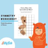 Simon the Symmetrical Bear - Symmetry Worksheet