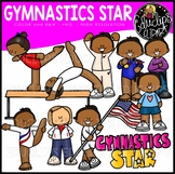 Gymnastics Star Clip Art Set {Educlips Clipart}