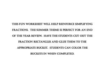 Simpifying Fraction Fun