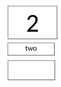 Simple 1 to 5 Number line