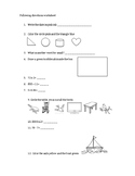 Simple 20-question following directions worksheet #2