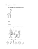 Simple 20-question following directions worksheet #3
