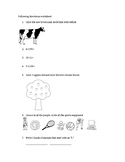 Simple 20-question following directions worksheet #5