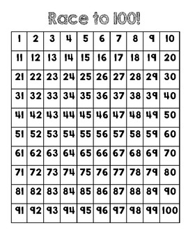 Simple 100s Chart