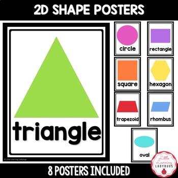 Simple 2D & 3D Shape Posters