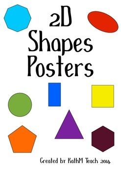 Simple 2D Shapes Posters
