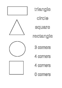 Simple 2D shapes and features match up