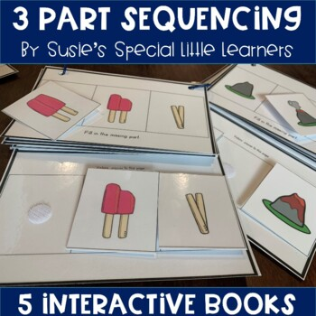 Simple 3 Part Sequencing Adapted Books for Autism (Set 1)
