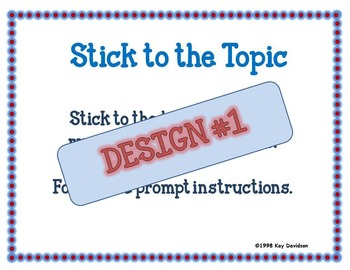 Simple 6 Writing POSTERS by Kay Davidson