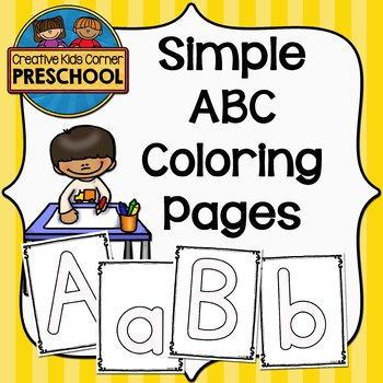 Simple ABC Coloring Pages