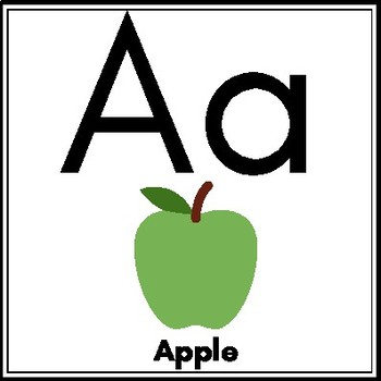 Simple ABC Wall Posters with Pictures