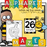 Simple ALPHABET MAZES {Letter of the Week}