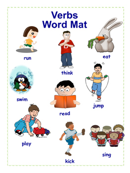 Simple Action Verb Word Mat